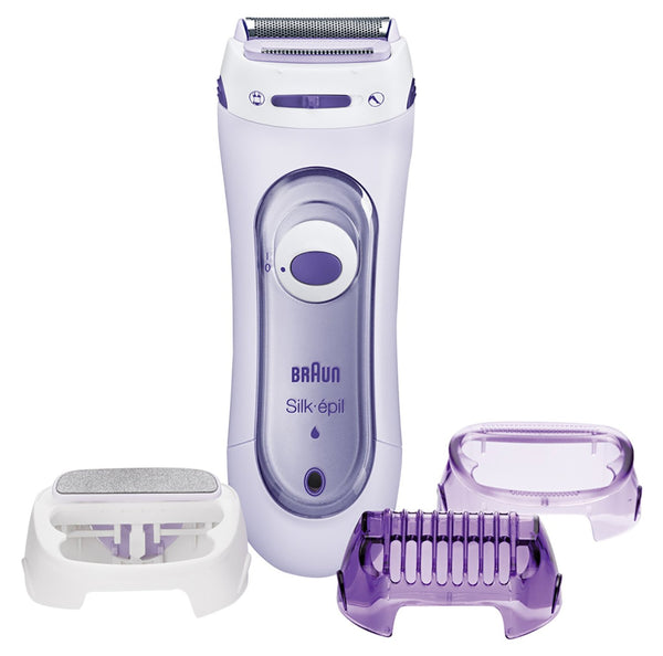 Braun Silk Epil LS 5560 Cordless Lady Shaver with 3 Extras - Purple - Personal Grooming