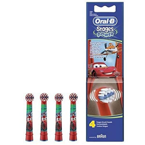 Oral-B Stages Power Cars Replacement Brush Heads - Pack of 4