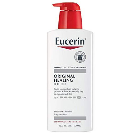 Eucerin Original Healing Lotion - Fragrance Free, Rich Lotion for Extremely Dry Skin - 16.9 fl. oz. Pump Bottle -