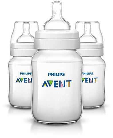 Avent SCF563/37 Classic+ Baby Feeding Bottle, 260ml/9oz (Pack Of 3) - Mother Baby & Kids