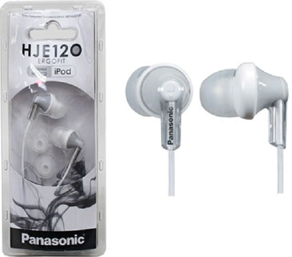 Panasonic RP-HJE120-PPK In-Ear Headphone (White) - Home & Living