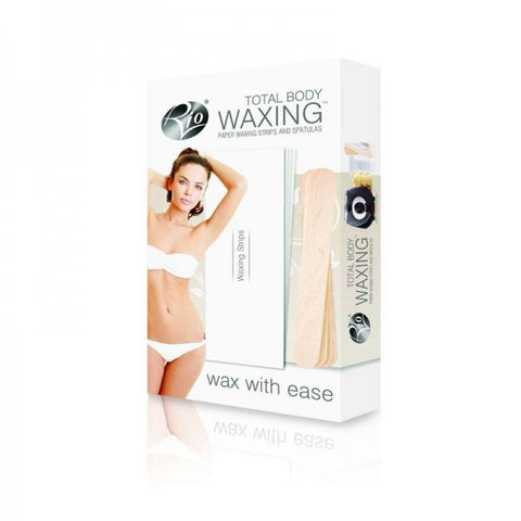 Rio Total Body Waxing Paper Strips and Spatulas Wax with Ease - Personal Grooming