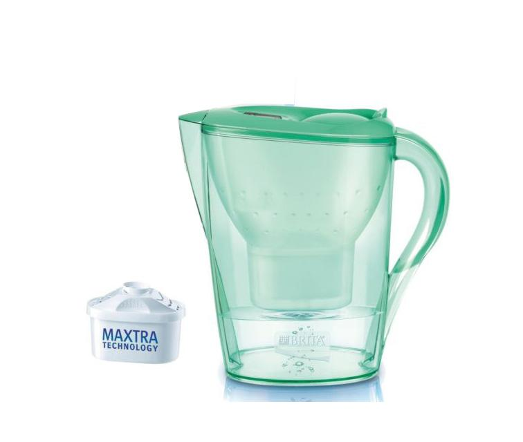 Brita Marella 2.4L Water Jug with 1 Maxtra Filter (Bamboo Green) - Water Filters