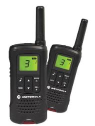 Motorola Talker TLKR T60 2 Way Walkie Talkie 8km PMR 446 Radio - 2 Pack (Black) (For export only) - Walkie Talkies & Phones