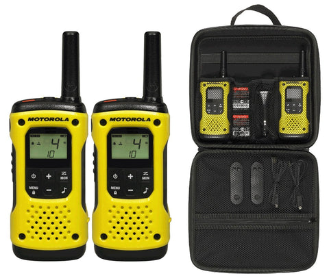 Motorola Tlkr T92 H2O PMR446 2-Way Walkie Talkie Waterproof Radio Twin Pack with Travel Case (For export only) - Walkie Talkies & Phones