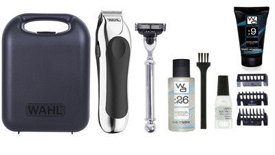 Wahl Mens Shave Trim Set Battery Powered with Hard Case - Personal Grooming
