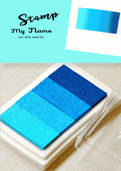 Versacraft Blue tone Ink pad for Fabric, Paper, Wood and more