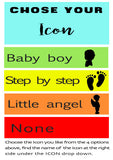 Baby Boy Personalised Stamp