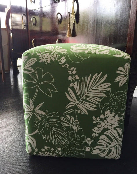 Green Leaf Ottoman - SEASIDE INTERIORS & UPHOLSTERY