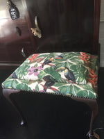 Toucan Foot Stool - SEASIDE INTERIORS & UPHOLSTERY