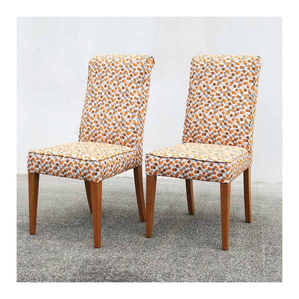 Orange Spot Profile fabric dining chair