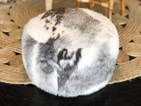 Cowhide Small Ottoman - SEASIDE INTERIORS & UPHOLSTERY