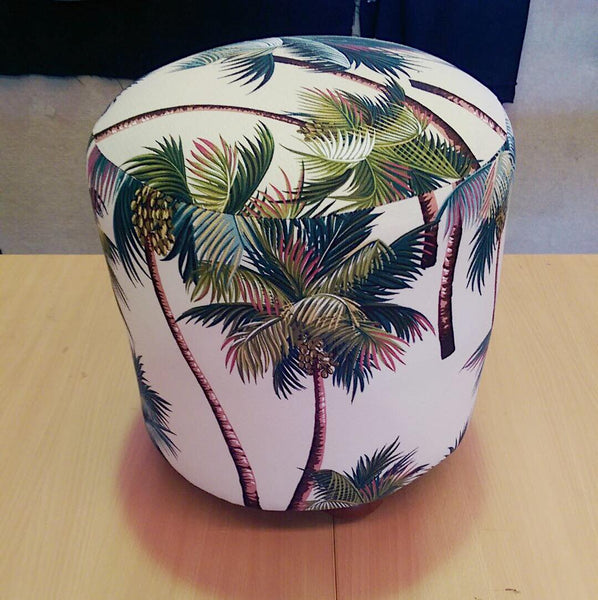 Ottoman - Palm Trees - SEASIDE INTERIORS & UPHOLSTERY