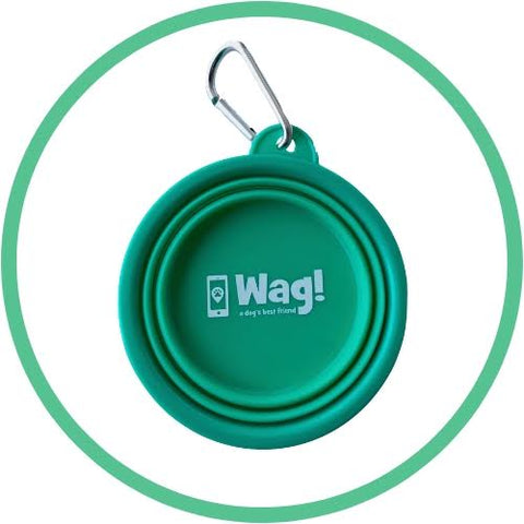 Wag! Collapsible Travel Pet Bowl