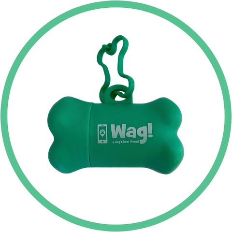 Green Dog Bone Poo Bag Dispenser
