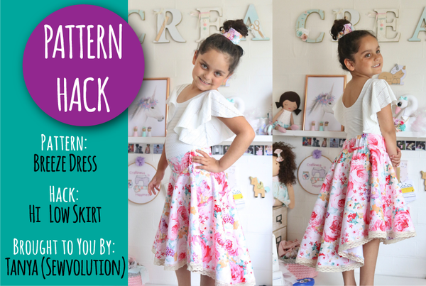 PATTERN HACK - Turning the Breeze Dress into a flat front, hi/low skirt