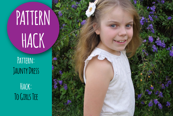 PATTERN HACK - Jaunty Dress to Girls Tee