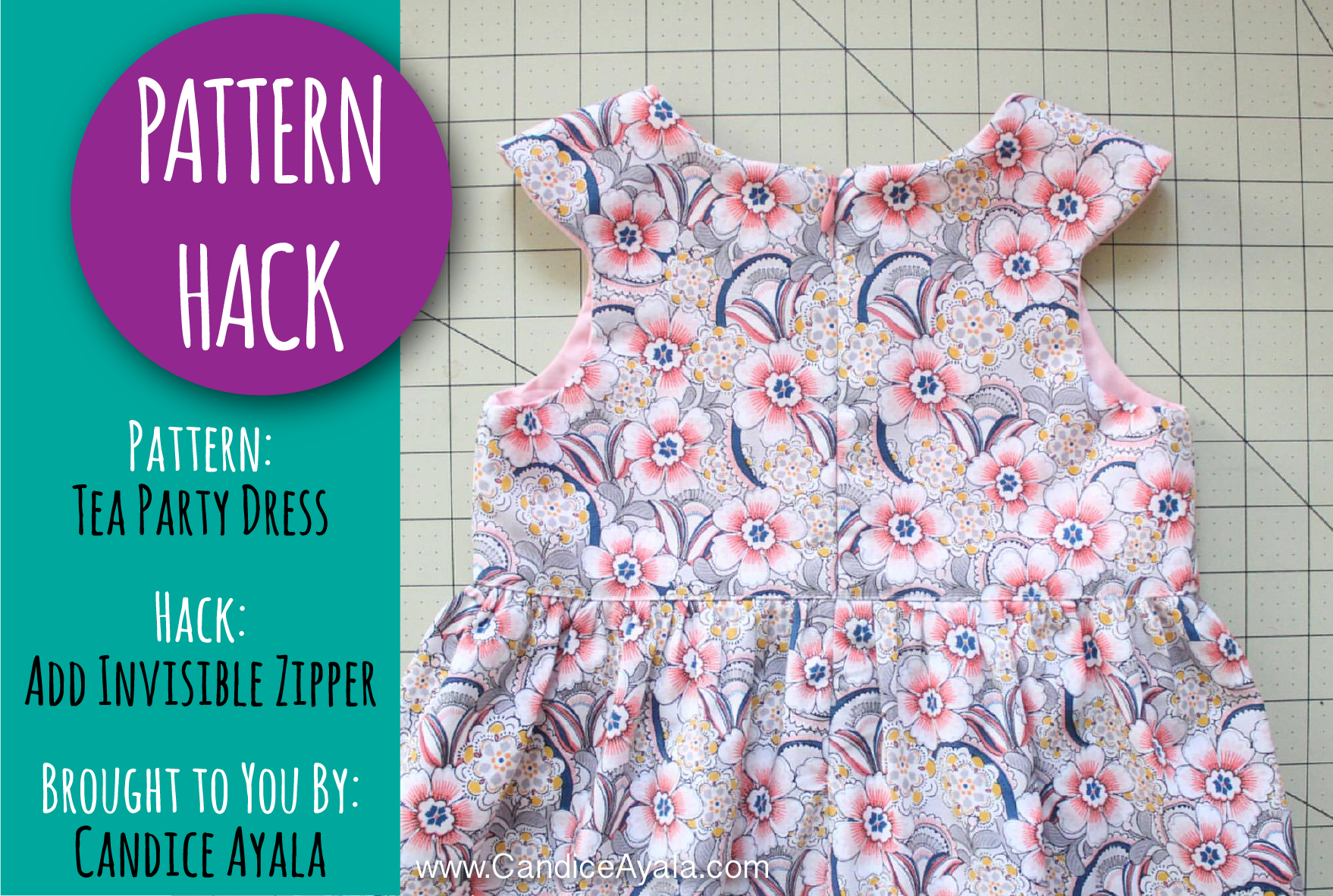 PATTERN HACK - Adding an invisible zip to the Tea Party Dress