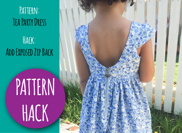 PATTERN HACK - Tea Party Dress with Semi Exposed Zip