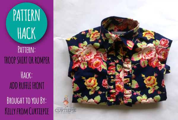 PATTERN HACK - Troop Shirt Ruffle Front