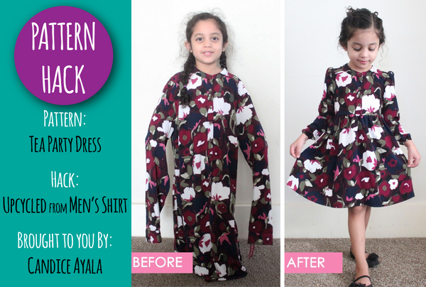 PATTERN HACK - Upcycled Tea Party Dress