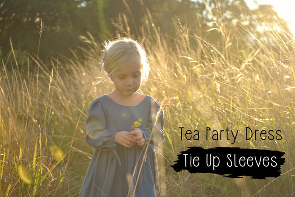 PATTERN HACK - Tea Party Dress with Tie Sleeves