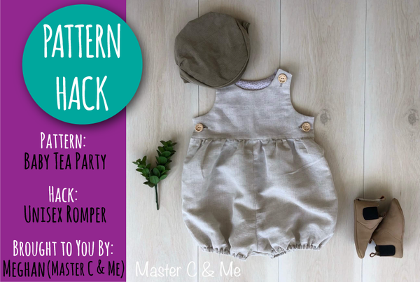 PATTERN HACK - Unisex Baby Tea Party Romper