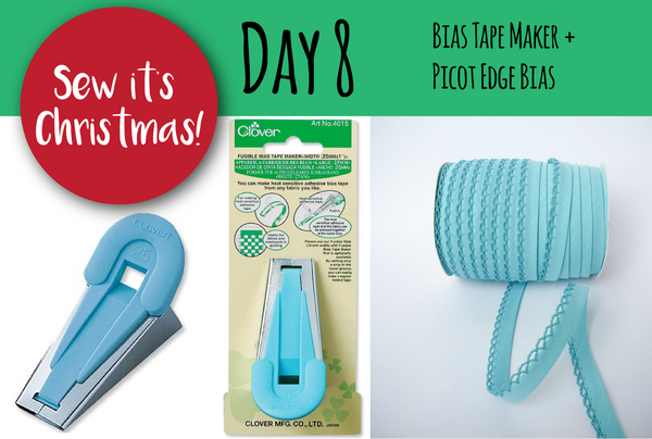 SEW IT'S CHRISTMAS - Day 8: Bias Tape Maker + How to Attach Double Fold Bias