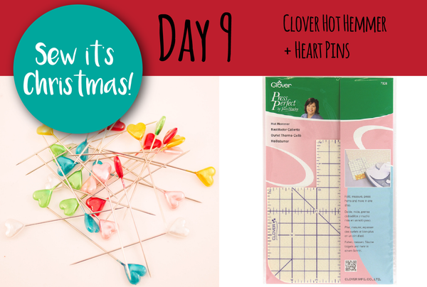 SEW IT'S CHRISTMAS - Day 9: Clover Hot Hemmer + Heart Pins