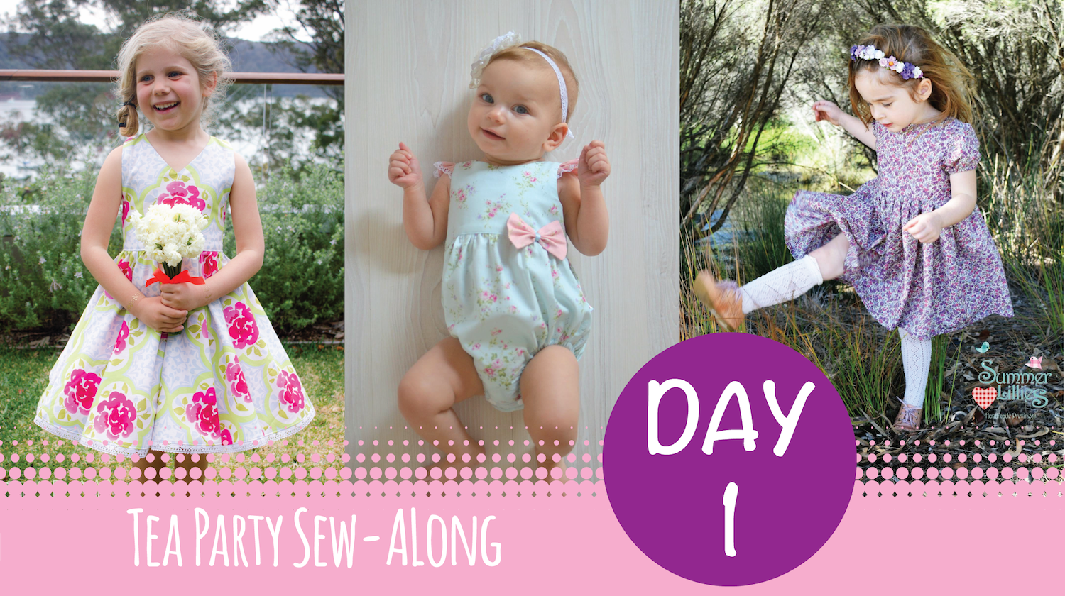Tadah Tea Party Sew Along - Day 1