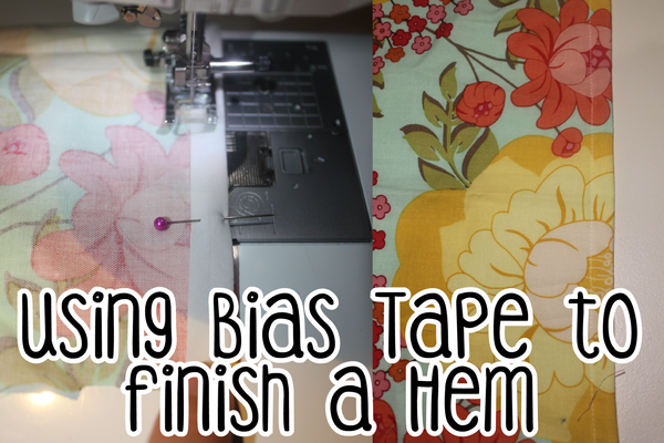 Using bias tape to finish an edge