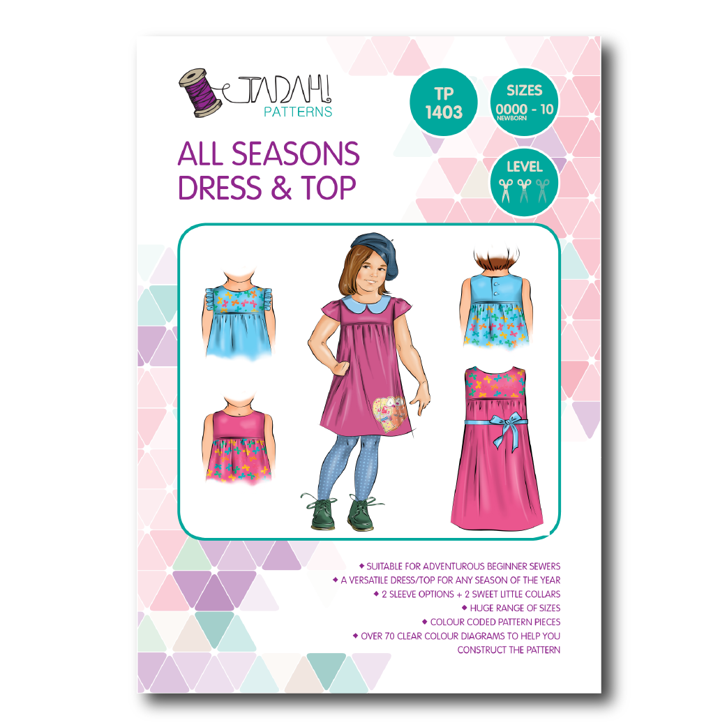 All seasons dress top sewing pattern tadah patterns sewing all seasons dress top sewing pattern jeuxipadfo Image collections
