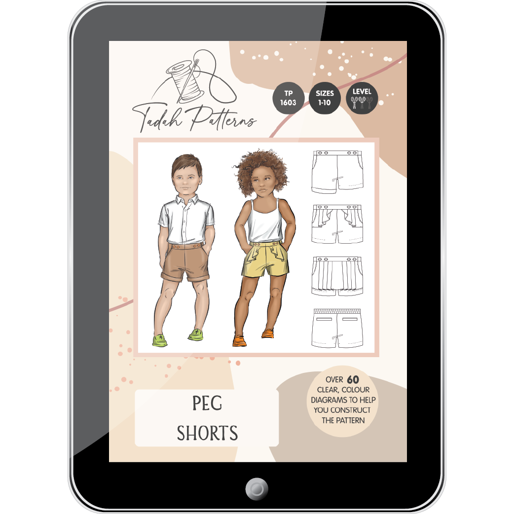 Peg Shorts Sewing Pattern - Tadah Patterns + Sewing