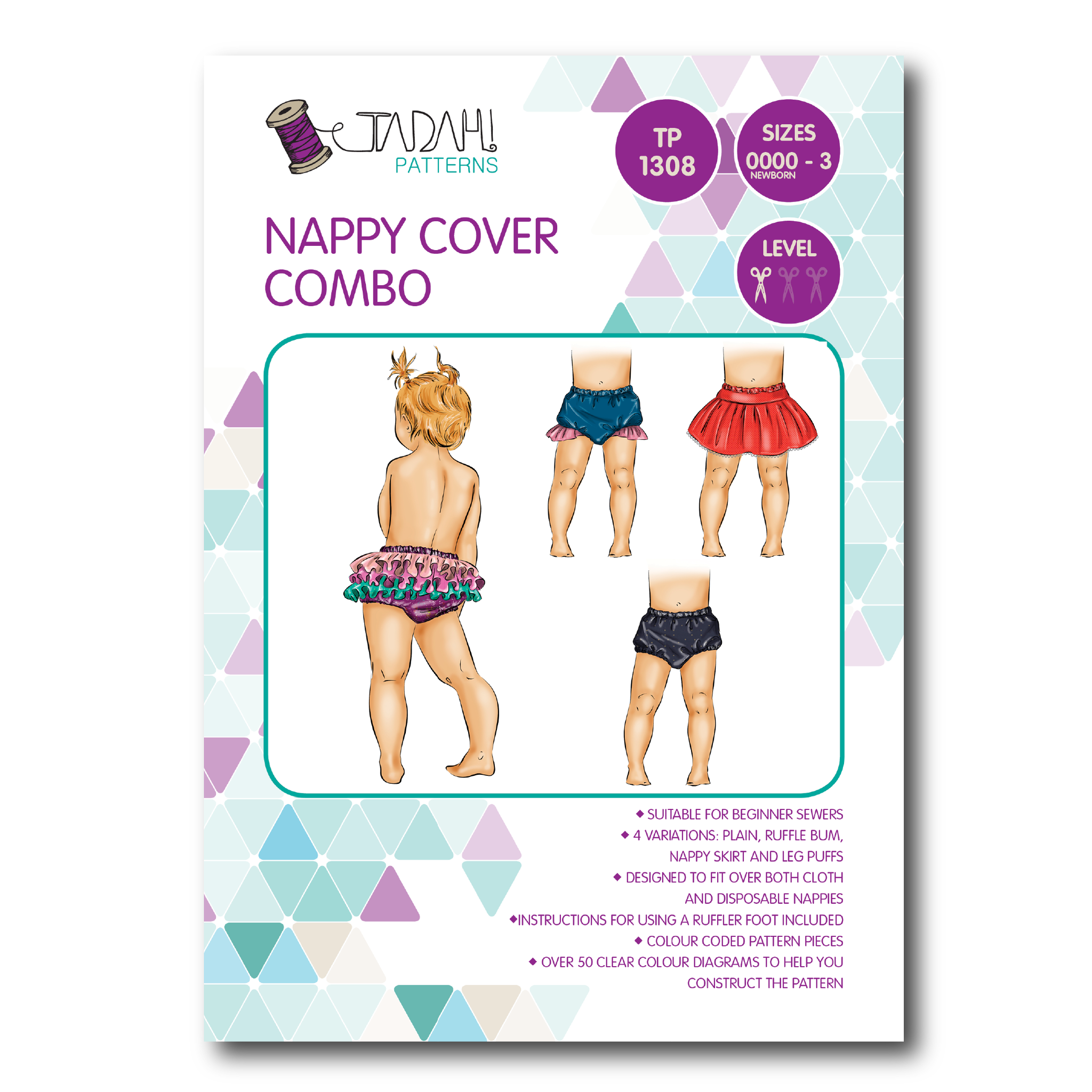 Nappy Cover Combo Sewing Pattern - Tadah Patterns + Sewing