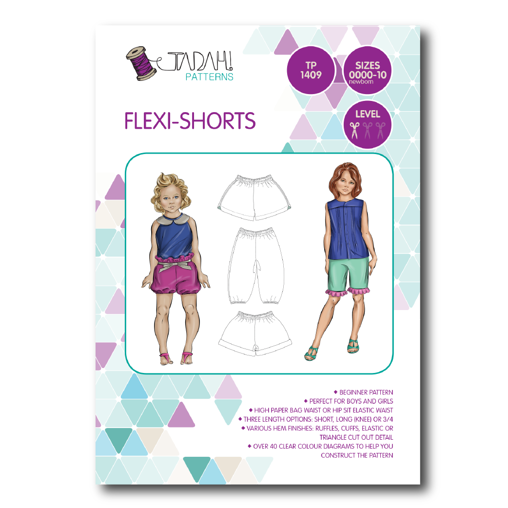 Flexi Shorts Sewing Pattern - Tadah Patterns + Sewing