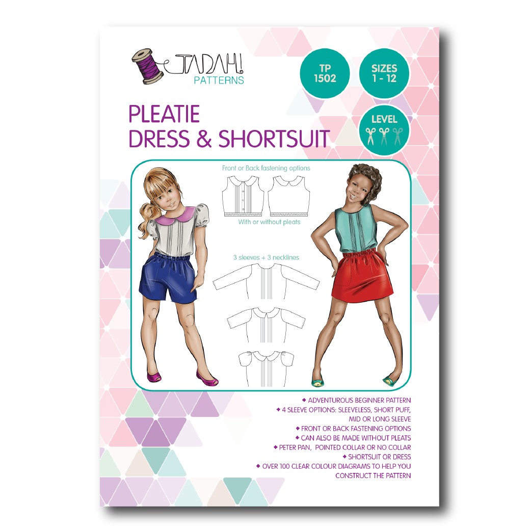 d7a2798ae6720 Pleatie Dress   Shortsuit Sewing Pattern - Tadah Patterns + Sewing
