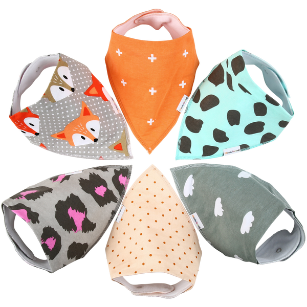 """Sofie"" Bandana Baby Bibs (Set of 6)"