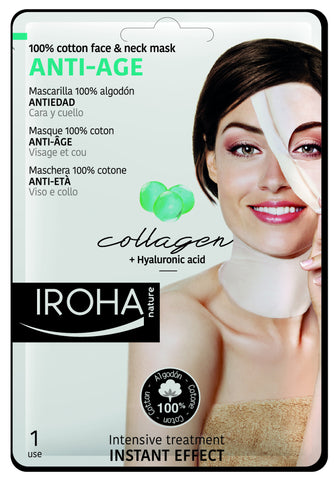 IROHA Nature Intensive Treatment Face & Neck Tissue Mask - Collagen