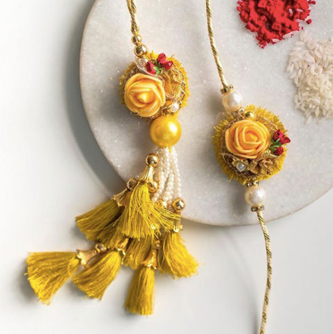 Persian rose rakhi- handcrafted rakhis for bhaiya and bhabhi