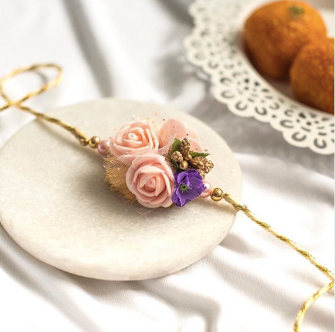 Tiffany Rose Rakhi- Handcrafted rakhi for brothers