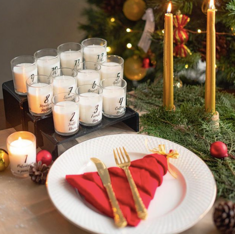 12 days of Christmas Candles