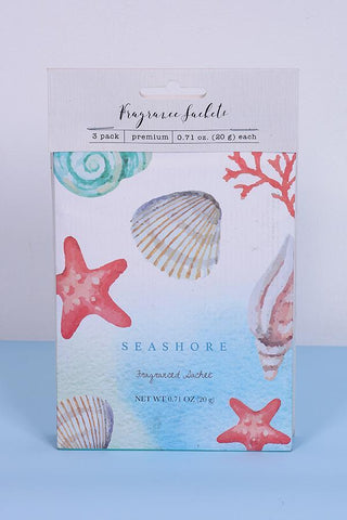Seashore Fragrance Sachets - Pk of 3