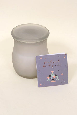 Grey 10 Oz Jar Candle