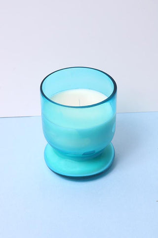 Rose Scented Votive Glass Candle - Blue