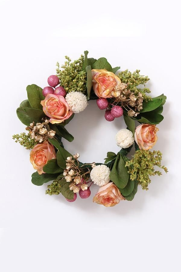 Ode To Pink Dried Flower Wreath The Maeva Store