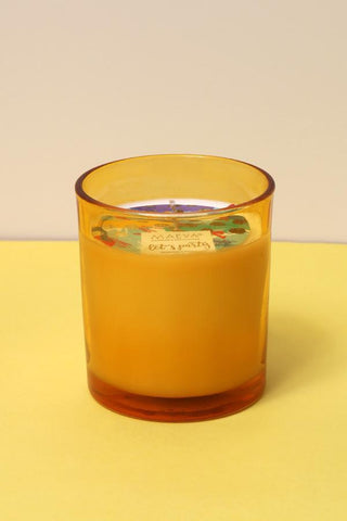 Yellow Glass Candle