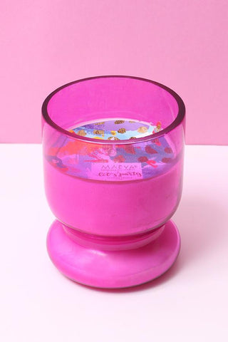 Pink Votive Glass Candle