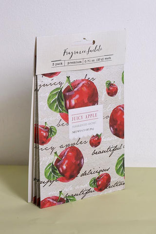 Juicy Apple Fragrance Sachets - Pk of 3