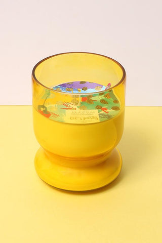 Rose Scented Votive Glass Candle - Yellow