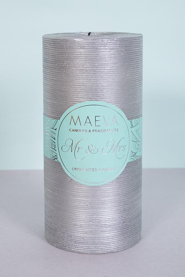 Wedding Flitter Candle - Silver